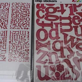 chipboard alfabet stickers Lemonade