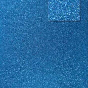 Glitter pauw blauw