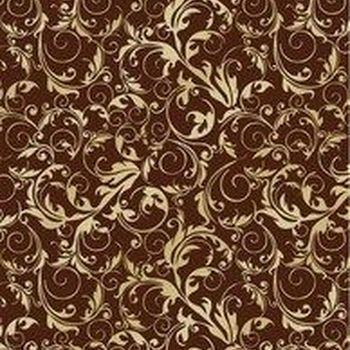 KF Fl.Swirls goud/chocolate