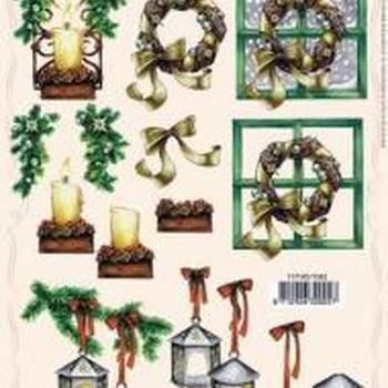 PI kerstkrans/lantaarn