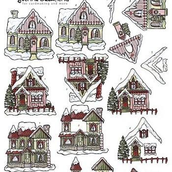 YC Kerst huisjes