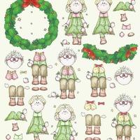 Bambinie's kerst - knipvel