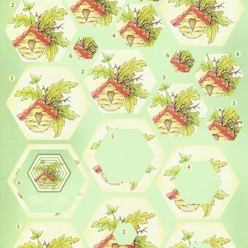 Flower pyramid 1 - knipvel