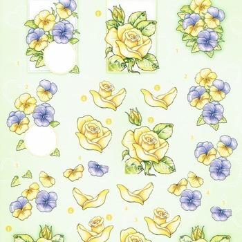 HF rozen & violen  - knipvel