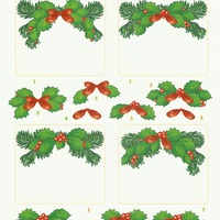Kerst 1 hulst rechthoek - knipvel