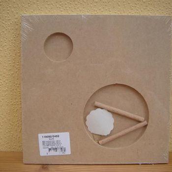 mdf scrapbookframe cirkels