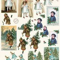 MD Vintage Christmas - blue