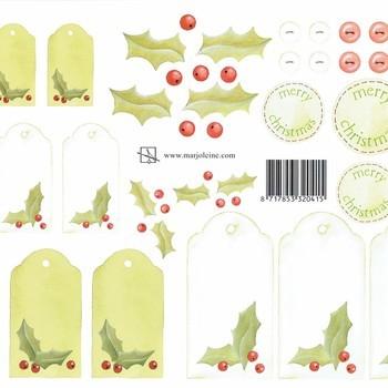 kerstlabels groen