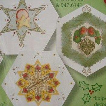 kaarten zeshoek ecru