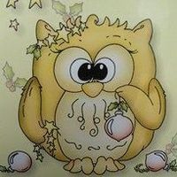 Owlie clear stamp Twitke at xmas