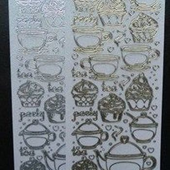 sticker tea & cupcake glitter