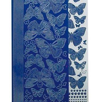 sticker vlinder blauw