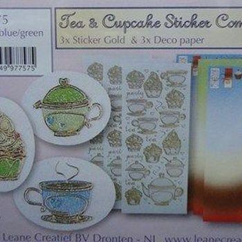 Tea & cupcake sticker combi set