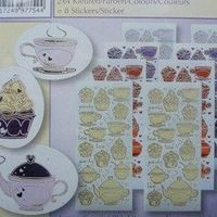 Tea & cupcake sticker mix&match