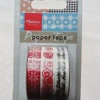 MD - paper tape - Christmas red