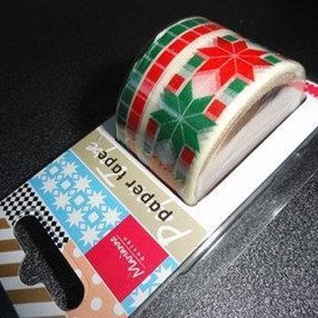 MD - paper tape - Christmas red/green