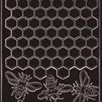bijen & honingraat (5159) zwart