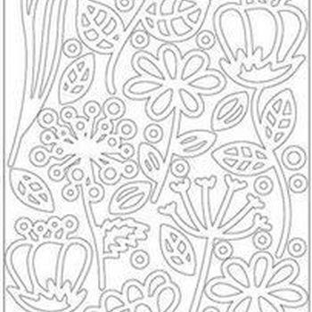 deco bloemen - wit