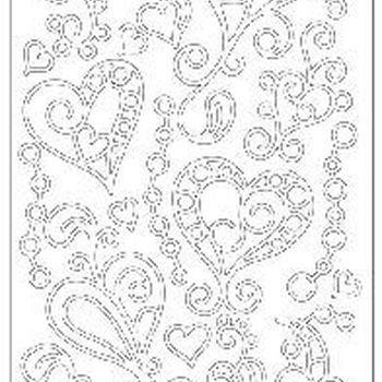 doodle harten - wit