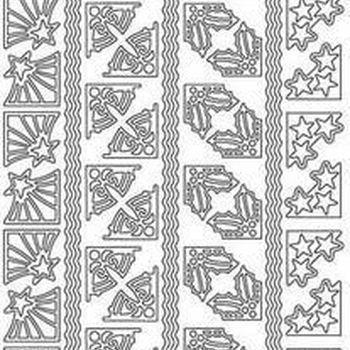 kersthoekjes (1175) zilver
