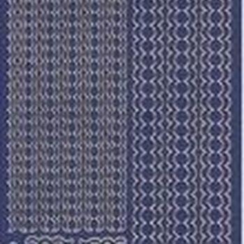 lijnen golvend - blauw