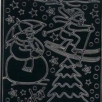 nostalgische kerst 2 - zwart