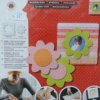 sjabloon kaart + bloem