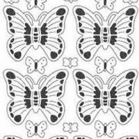 vlinders transparant glitter