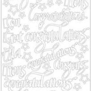 Congratulations (2826) zwart