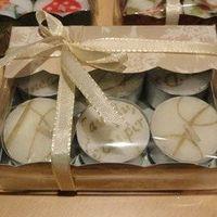 Scrap - Geschenkdoosje voor 6 kleine theelichten (10)