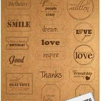 Kraftliner - Label Art - Words