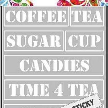Sticky stencil A5 - Tea Time