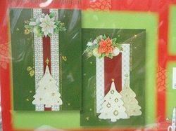 Embossing kerstkaarten kit groen