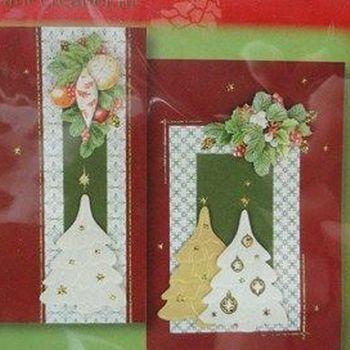 Embossing kerstkaarten kit rood