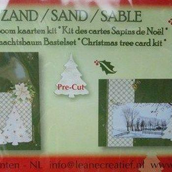 Kerstboom kaarten kit groen