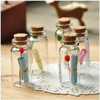Mini glazen flesjes