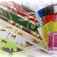 Kartonfolie / glitterkarton