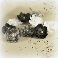 Bloemen - brads - eyelets - linten - washi tape